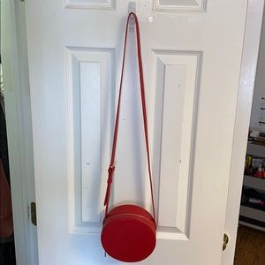 Circular Red Crossbody Bag